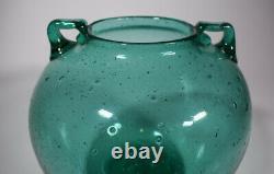 Vase En Verre D'art Vert Rare De Blenko, Circa 1935
