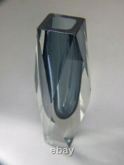 Vase En Verre D'art Vintage Murano Seguso Sommerso MID -century Retro Années 1950