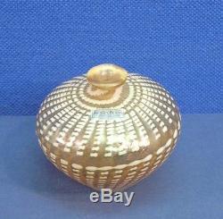 Vase En Verre De Kosta Boda Art Signé Vintage Par L'artiste Coll B. Vallien 48464 Avec Étiquette