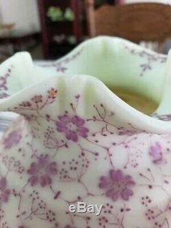 Vase En Verre Émaillé De Style Victorien Ancien Rare De Loetz
