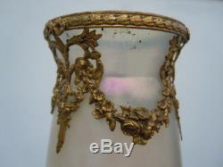 Vase En Verre Irisé Kralik Wilhelm En Verre Paire De Vases D'époque Art Nouveau