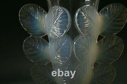 Vase En Verre Opalescent Art Déco Pierre D'avessen Vers 1930