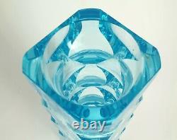Vase Exbor Oldrich Lipsky 1964 Blue 60s H. 21 CM Czechoslovaquie Art Glass