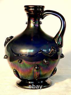 Vase, Jug, Ewer, Verre D'art, Webbs Patent, J. T. Hr, Verre De Bronze, Victorien, 10t