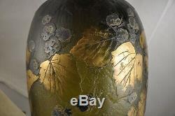 Vase Legras Exceptionnel Pate Signe Art Nouveau Antique Verre Signé En Verre Camée