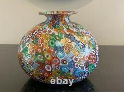 Vase Millefiori En Verre D'art De Murano