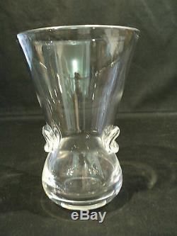 Vase Signet Signet, N ° 8002, Cristal Mid-century Art De Steuben