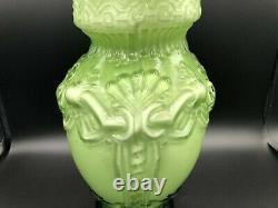 Vase Vintage À Grandes Mains En Verre D'art Rouge Et Blanc Victorien, 12 T