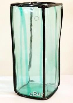 Venini Art Glass Vase Epipedos11 X 4.5 Signé 2002 Conçu Par Fulvio Bianconi
