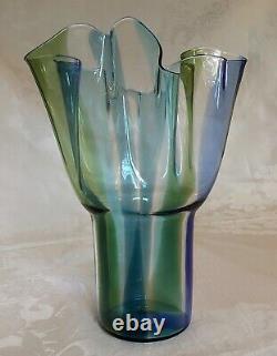 Venini Murano Kukinto 10 Vase En Verre D'art / Timo Sarpaneva 1996 Signé Et Daté