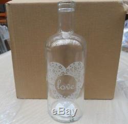 Vente En Gros D'emploi Lot Palette De 360 x Marque De Verre New'love ' Vases Rrp 6,99