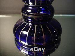 Verre Art Tchèque Wiener Werkstätte 12 Ht Cobalt Vase Withsilver Powolny Art Déco