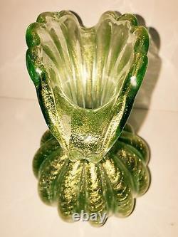 Verre De Murano Art Barovier Toso Cordonato D'oro Murano D'or Cordes Vase 8 1950