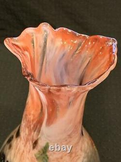 Verre De Murano Art Millefiori Vase Soufflé À La Bouche Made In Italy Signé 10 1/2