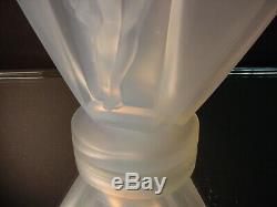 Verre Rare Etling 10 Ht. Lucille Sevin Opalescent Drapée Nu Vase # 38 Art Déco