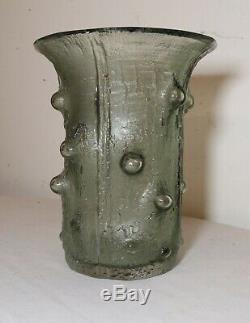 Vintage 1964 Timo Sarpaneva Finlandia Littala Art Vert Vase En Verre Scandinave