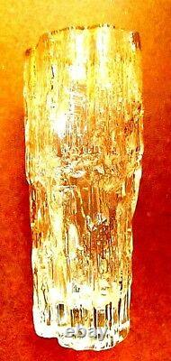 Vintage 1970 Signé Littala Tapio Wirkkala Modernist Art Glass Vase Finlande
