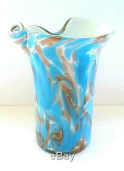 Vintage 50 Fratelli Toso Van Gogh Nuit Étoilée Murano Art Glass Vase Publié