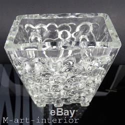 Vintage 60er Wmf Bubble Design Vase En Verre Blockvase Art Allemand Verre 1960er