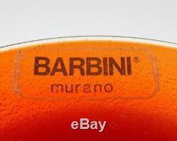 Vintage Alfredo Barbini Murano Studio Art De Verre Givré Vase Signé