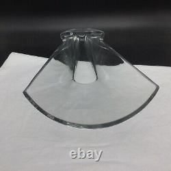 Vintage Baccarat Diva Vase Clear Art Glass Small