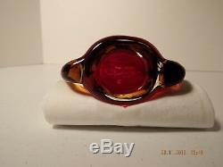 Vintage Flavio Poli Pour Seguso Vetri D'arte Murano Glass Art Vase