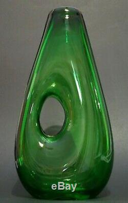 Vintage Murano Fulvio Bianconi Art Glass Vase Forato Pour Venini Labellisé
