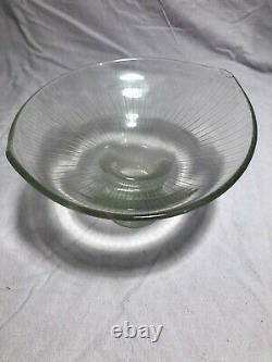 Vintage Rare Années 1950 MCM Tapio Wirkkala Iittala 3523 Line Cut Art Vase Signé