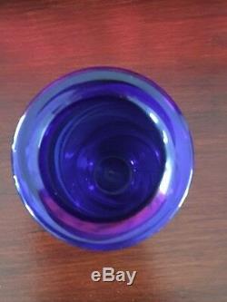 Vintage Vase Verre Art Australien Signé Chuck Simpson