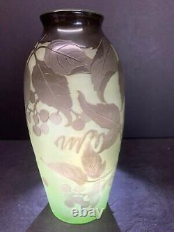 Vtg 19e C. Dargental Paul Nicolas Art Glass Nouveau Cameo Scenic Vase Rare