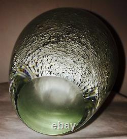 Vtg MID Century Kaj Franck Style Nuutajärvi Savon Bubbles Art Vase En Verre 7 1950s