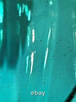 W Anderson Pinched Fin 1940 Sea Green Vase. Verre D'art Blenko