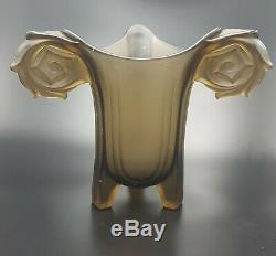 Walther & Söhne Rare Vase Art Deco En 1935 Harald Verre Vase En Verre D'art