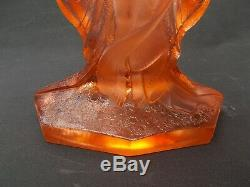Walther & Sohne Vase En Verre Schmetterling Art Déco Vase Lady Butterfly Années 30