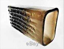 Whitefriars Art Glass Vase En Bambou Par Geoffrey Baxter