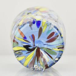 Zecchin Murano Glass Art Vase Murrine Millefiori Feuille D'or Signé